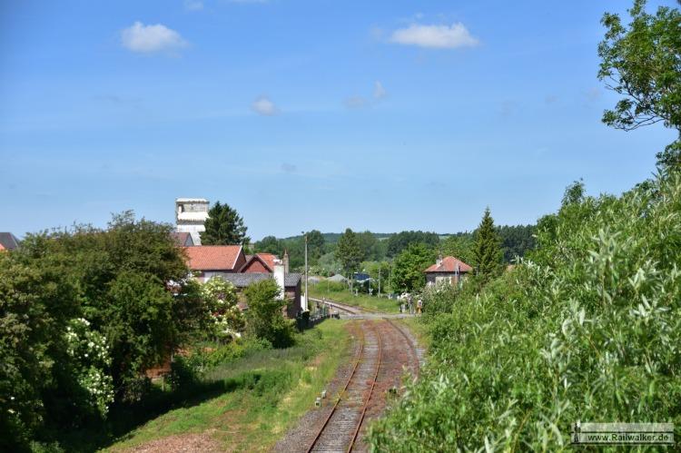 Ausblick auf den Bahnhof von Anvin.