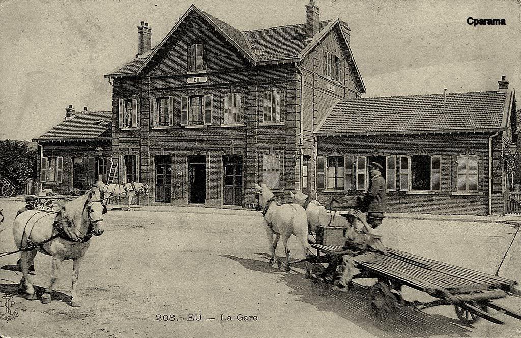 Der Bahnhof von Eu früher...