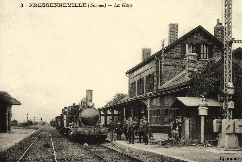 Der Bahnhof von Fressenneville früher...