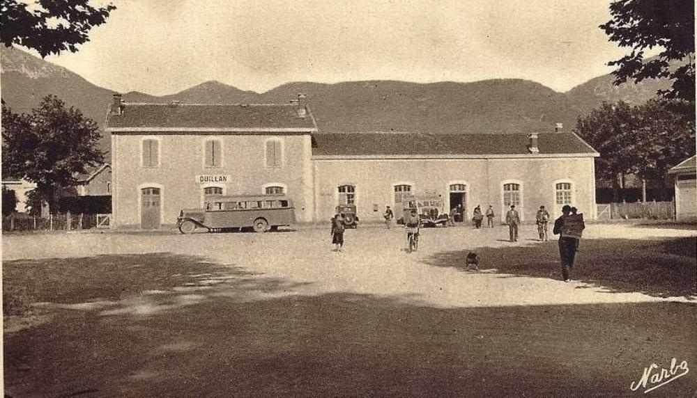 Der Bahnhof Quillan früher...