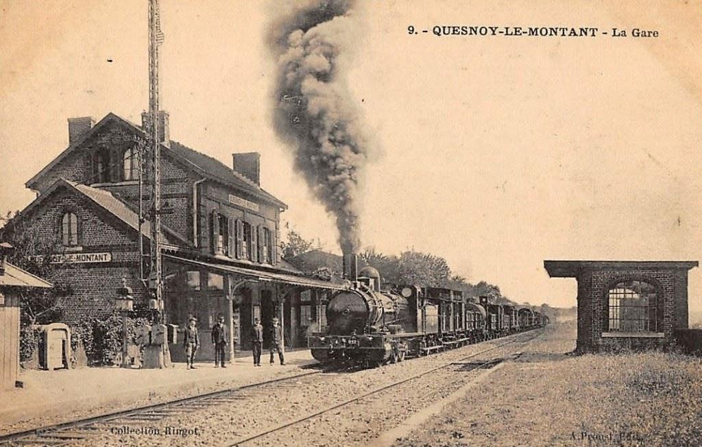 Der Bahnhof von Quesnoy-le-Montat damals...