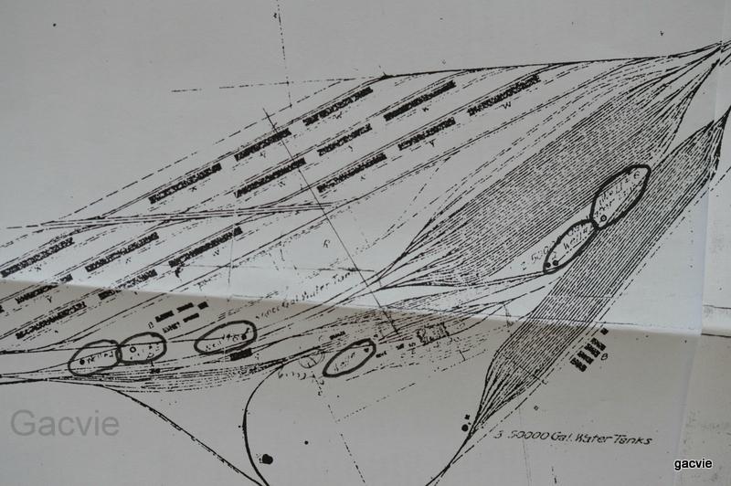 Plan der anlage auf einer alten Zeichnung