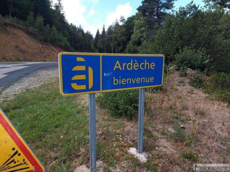 Übertritt vom Departement Haute-Loire nach Ardeche.