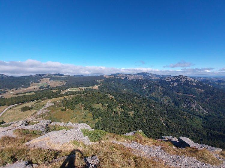 Ausblick vom Mont Gerbier de Jonc
