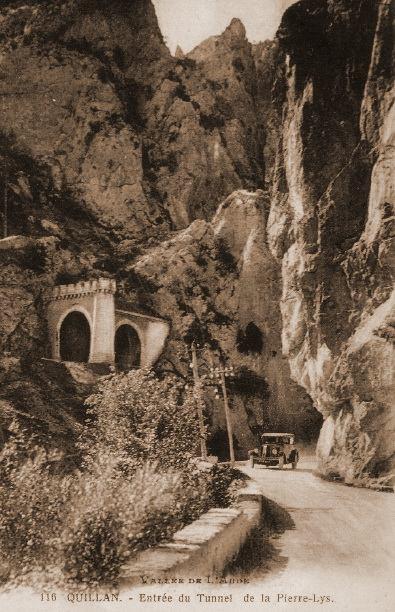 Der Tunnel auf einer alten Postkarte