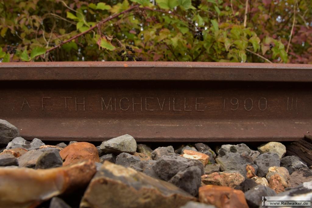 Schiene von Micheville, 1900.