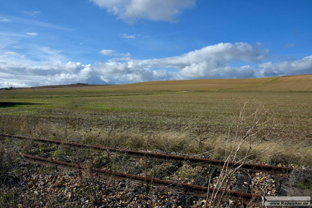 Landschaftlich gibt die Strecke nicht sehr viel her.