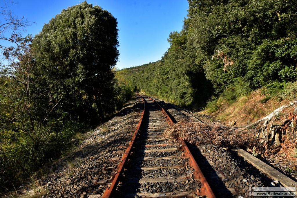 Blickrichtung Limoux. Es ist nun drei Jahre her, dass hier ein Zug gefahren ist.