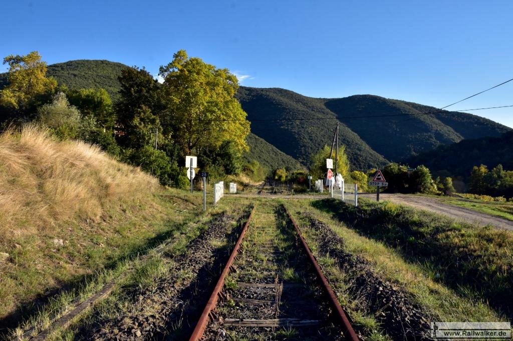 Bahnübergang 28. Blickrichtung Quillan.