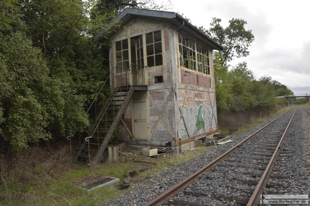 Ein Stellwerk im Bahnhof Mirecourt