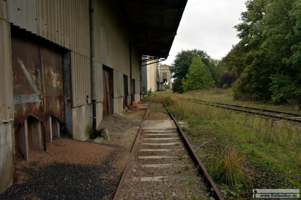 Ein Anschlußgleis im Bahnhof von Estissac