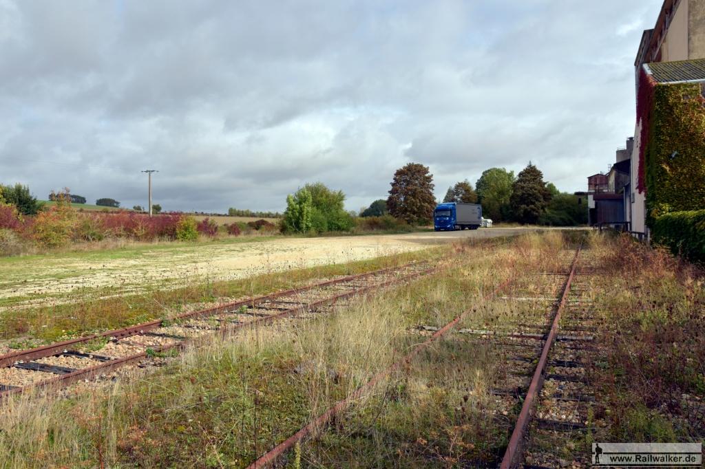 Im Bahnhof von Estissac. Seit 1939 gab es hier nur noch Güterverkehr.