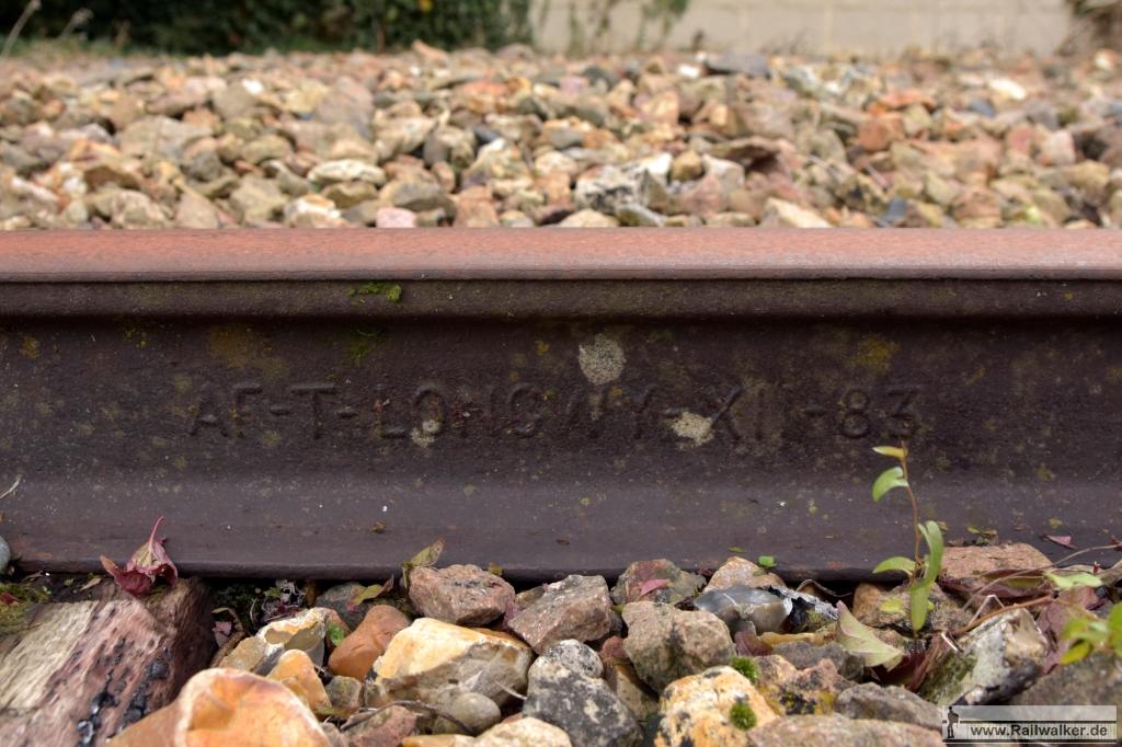 Longwy-Schiene von 1883.
