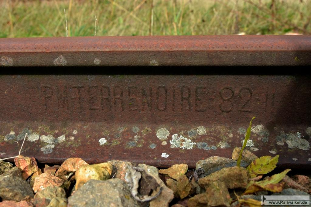 Schiene aus Terrenoire, ebenfalls aus dem Jahr 1882.