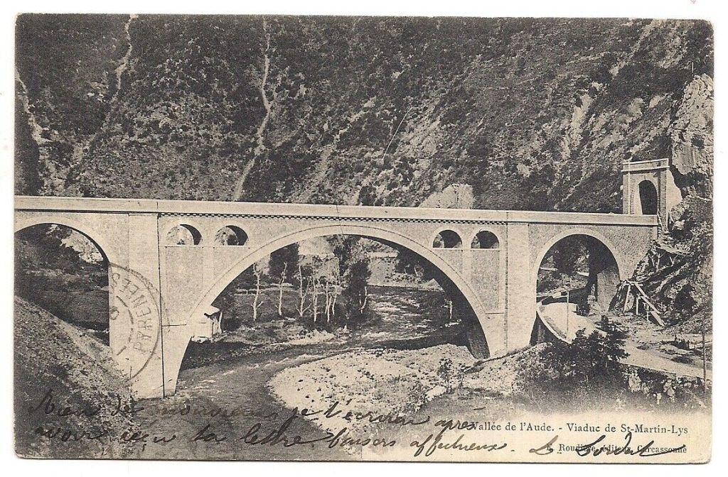 Die Pont sur l'Aude auf einer Postkarte